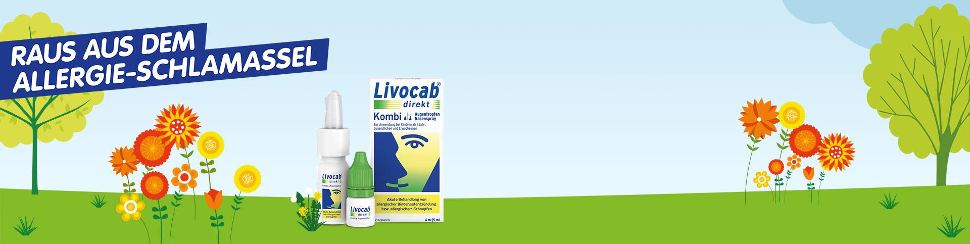 Comicwelt: Raus aus dem Allergieschlamassel - LIVOCAB® direkt