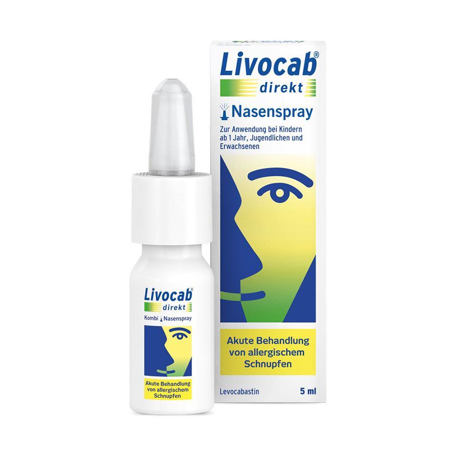 Packung LIVOCAB® direkt Nasenspray